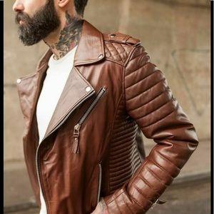 💥Host Pick💥Rare BODA Men's Biker LeatherJacket